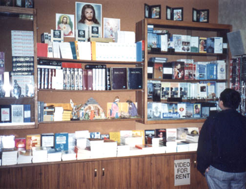 marianland.com - Catholic Chapel Bookstore at ARCO Plaza, Los Angeles, California, 1989